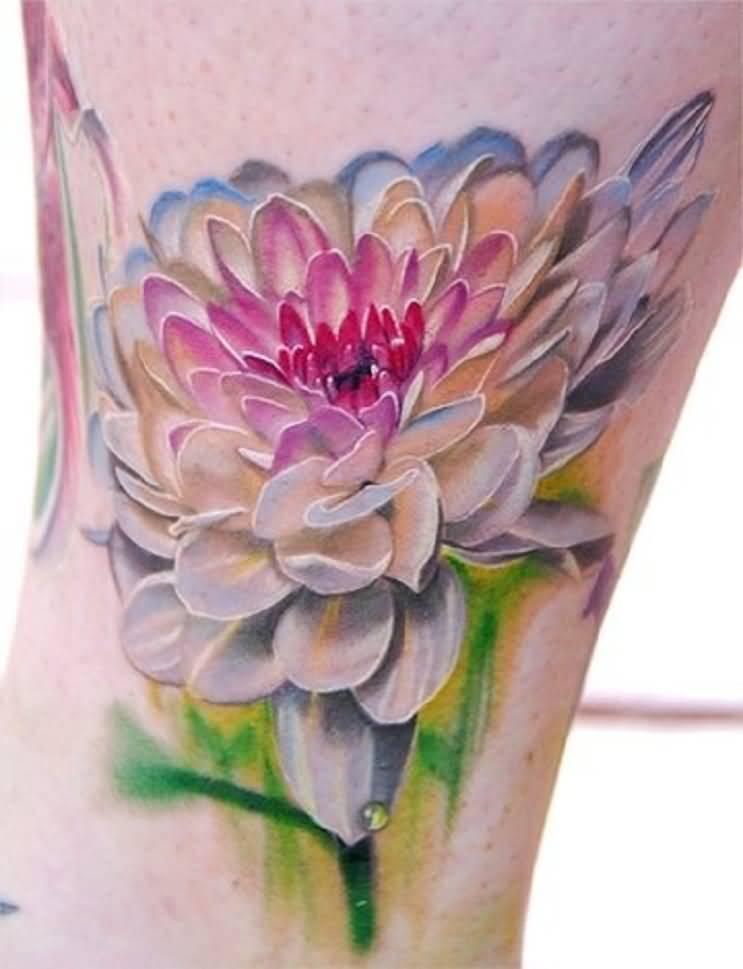 3d flower tattoos truetattoos white ink 3d flower tattoo on girl leg mightylinksfo