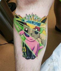 Famous Pokemon Tattoo